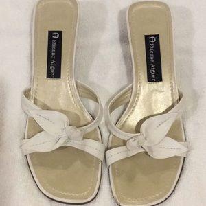 Etienne Aigner white sandal